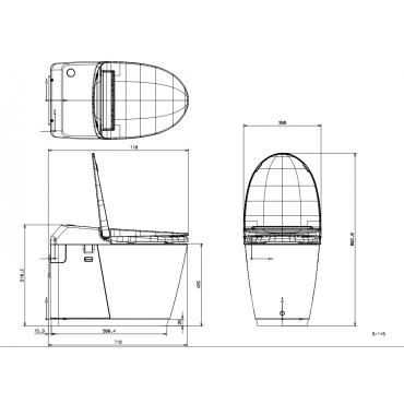 SFA sanibroyeur sanismart toilet avec broyeur dimensions
