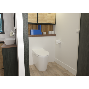 SFA sanibroyeur sanismart toilet avec broyeur dans salle de bains