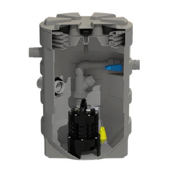 SFA sanibroyeur sanifos 280 ondergrondse vuilwater opvoerinstallatie