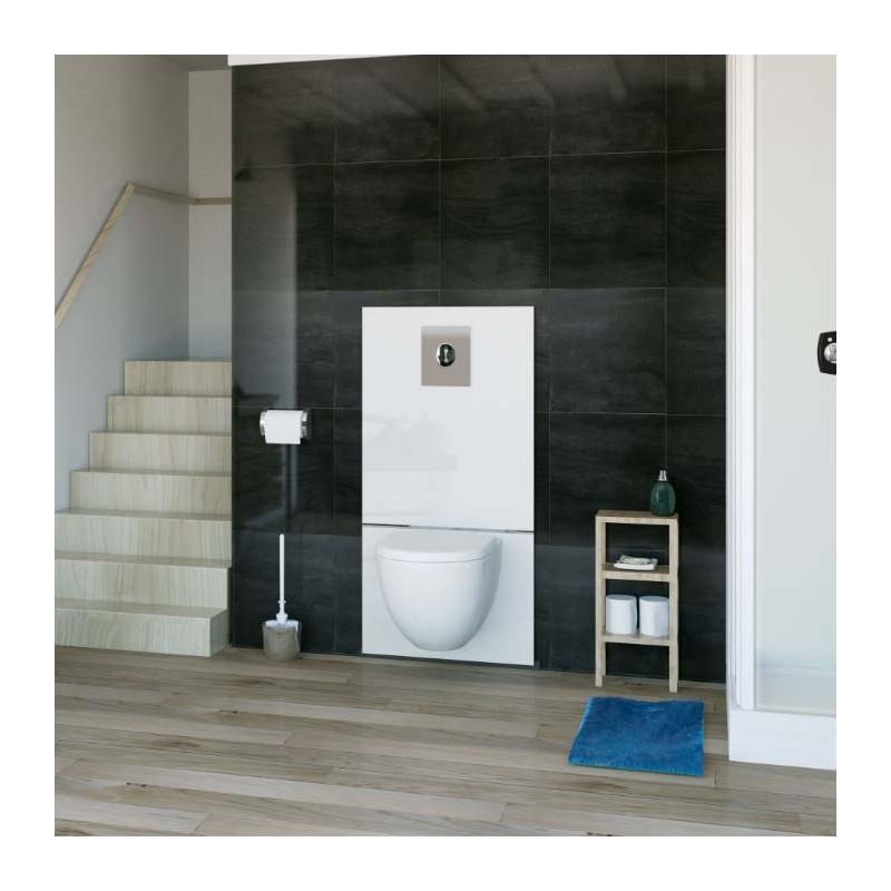 SFA sanibroyeur saniwall pro up broyeur fecaliënvermaler met grohe frame en glaspaneel in badkamer
