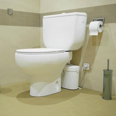 SFA sanibroyeur saniacces fecaliënvermaler achter toilet