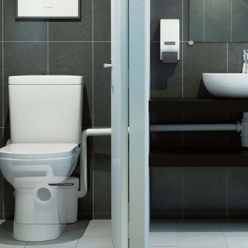 SFA sanibroyeur saniacces broyeur dans salle de bains