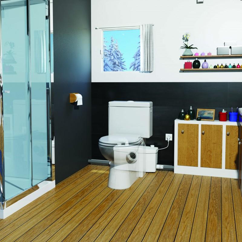 SFA sanibroyeur saniplus broyeur dans salle de bains