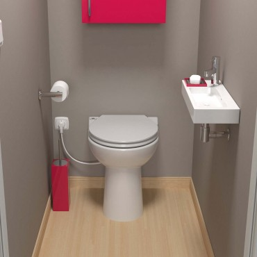 SFA sanicompact C43 toilet avec broyeur