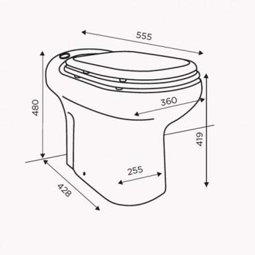 SFA sanibroyeur sanicompact elite toilet avec broyeur dimensions
