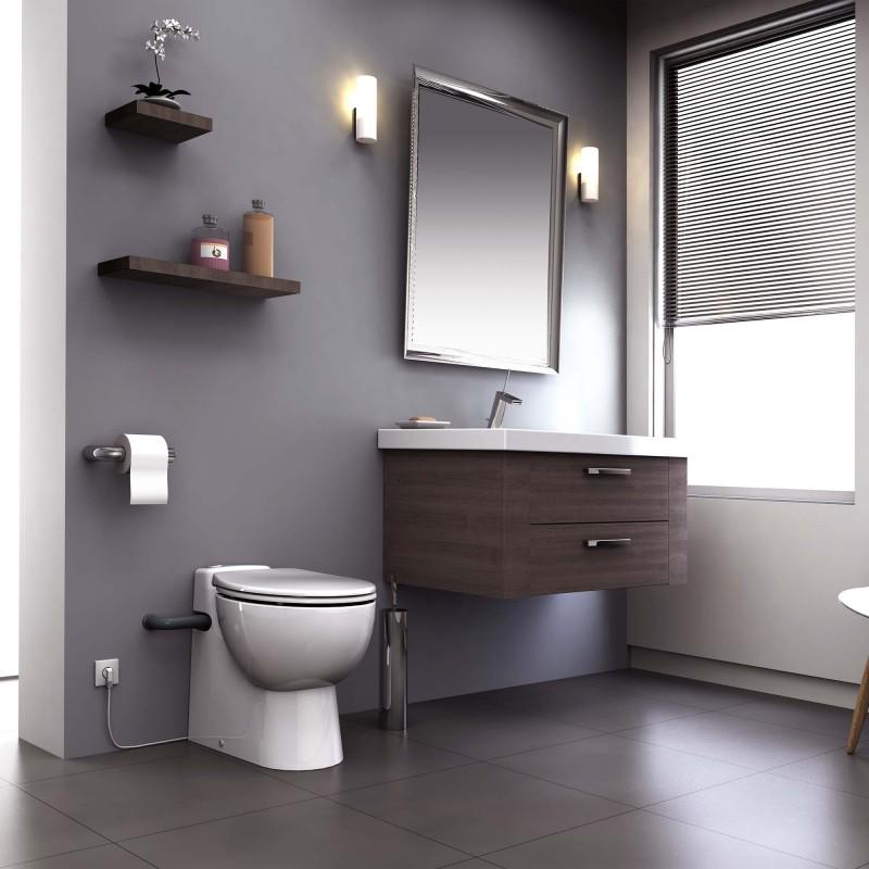SFA sanibroyeur sanicompact pro toilet avec broyeur dans salle de bains