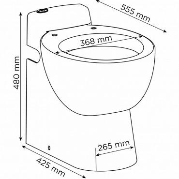 SFA sanibroyeur sanicompact pro toilet avec broyeur dimensions