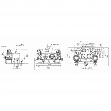 SFA sanibroyeur sanicubic 2 GR station de relevage à poser dimensions