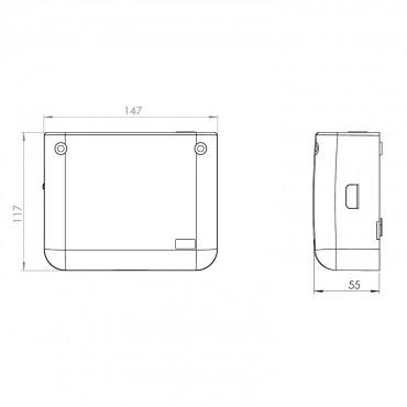 SFA Sanibroyeur Sanicondens Deco+ dimensions