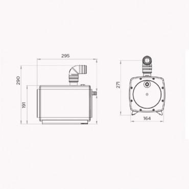 SFA Sanifloor tray douchbak met douchepomp