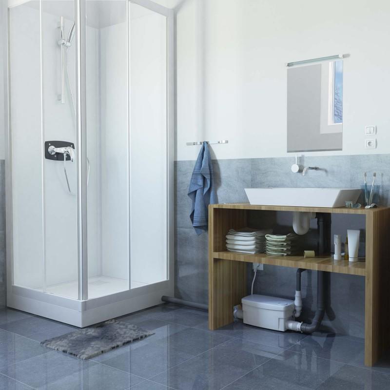 SFA sanibroyeur sanidouche pompe de douche dans salle de bains