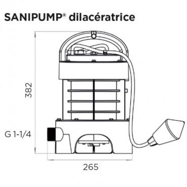 SFA Sanibroyeur Sanipump GR/VX rioolwater pomp vermaler
