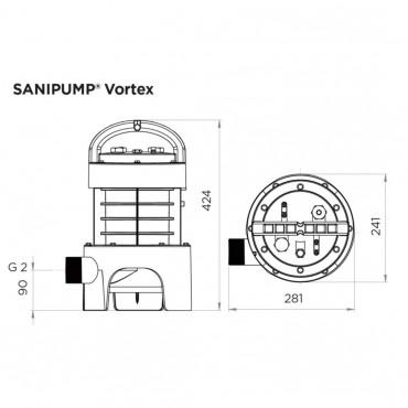 SFA Sanibroyeur Sanipump GR/VX rioolwater pomp vortex