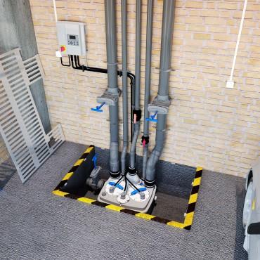 SFA sanibroyeur sanicubic 2 pro station de relevage à poser
